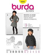 Burda Children's Sewing Pattern 9501 - Coat & Jacket Sizes: 2-6 - $12.74