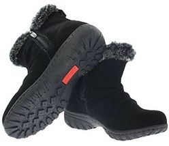 New in Box Khombu Women's Brown or Black Suede Lisa All Weather Winter Boots NIB image 5