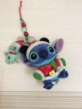 Tokyo Disney Resort Stitch Scrump dressed as Santa Plush Doll, Keychain.... - $45.00