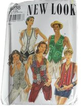 New Look by Simplicity 6238 Sewing Pattern Misses Mens Waistcoat Size S-XXL - $10.78