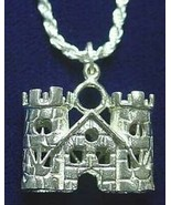 LOOK 1174 medieval Sterling Silver King Castle Pendant Charm - $32.00