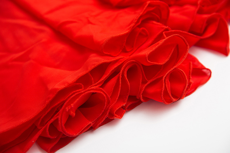 Red chiffon skirt 12