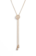 Vince Camuto Rose Gold Tone Slider Necklace NWT - $30.00