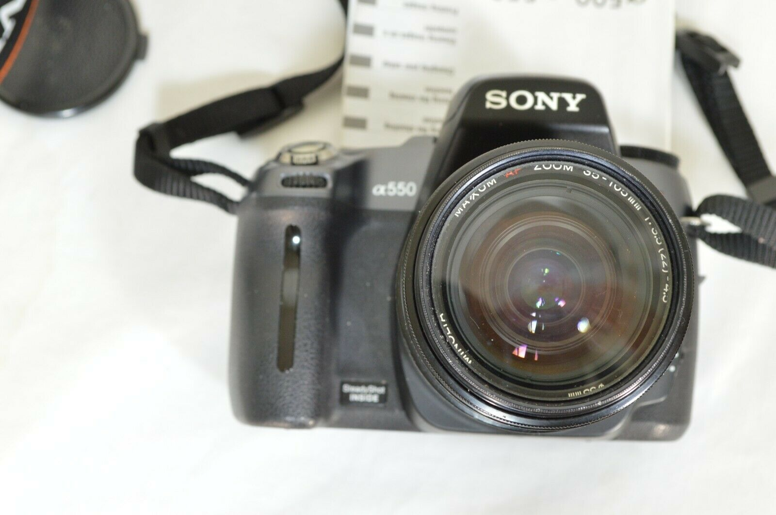 Sony Alpha DSLR-A550 14.2MP DSLR Camera Minolta Maxxum 35-105mm f/3.5-4.5 AF Len image 6