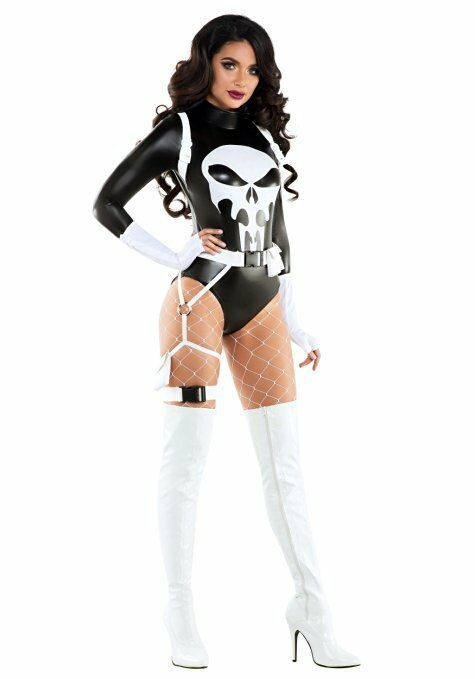 Starline The Punishing One Punisher Comics Adult Women Halloween Costume S6114
