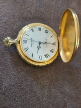 Vintage Andre Rivalle 17 Jewels Pocket Watch Liberty Bell - $19.79