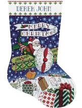 Design Works Airplane Santa Gifts Christmas Eve Cross Stitch Stocking Kit 6852 - $29.95