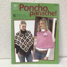 Annies Attic Crochet Poncho Panache 16 Designer Styles Pattern Book - $12.62
