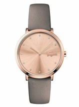 Lacoste Women's Moon Stainless Steel Quartz Watch with Leather Strap - $147.26