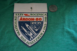 Vintage Polish Poland People's Army Air Force Missle Defense Patch WOPK Argon 80 - $18.49