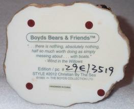 Boyd Bearstone Resin Bears 1993 Christian By The Sea Figurine #2012 29E NEW image 3