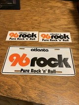 vintage 96 rock license plate NOS Atlanta Georgia 1986 Never Mounted & S... - $74.88