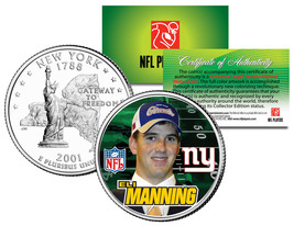 ELI MANNING * Draft Pick * Colorized New York Statehood U.S. Quarter Coi... - $7.87