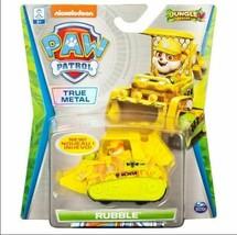 "Nickelodeon Paw Patrol ""Rubble"" Jungle Rescue True Metal Bulldozer"