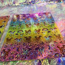 Full Prism Lisa Frank Sticker Sheets S738 S731 Violet Lollipop Rainbow Chaser image 6
