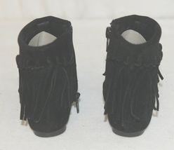 I Love Yo Kids AVA 92T Girls Fringe Boot Black Zip Up Size Five image 4