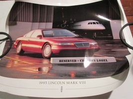 """1993 Lincoln Mark VIII , 16"""" X 20"""" , Poster , Features Booklet Included - $24.66"""