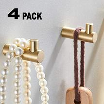 Pack of 4, Gold Brass Decorative Wall Hooks Towel Hook, Coat Hook Hangers Wall M image 9