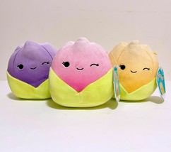 "Set of 3 Kellytoy Squishmallow Assorted Colors Tulips Flower 8"" Mini Plu... - $47.02"