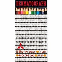 Mitsubishi Pencil DERMATOGRAPH 7600 12 color set K760012C JAPAN - $14.32