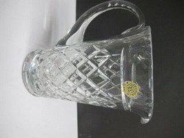 Czechoslovakia cut glass pitcher hand cut - $36.47
