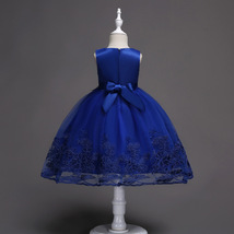Little Girl Royal Blue Lace Pricess Flower Dress Ball Gowns 2018 Formal Gowns  image 5