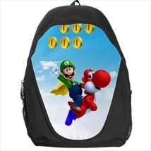 backpack school bag luigi yoshi bookbag - $39.79