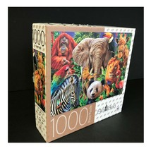 Safari 1000 Piece Puzzle by MB Big Ben Colorful Wild Animals Family Fun ... - $18.47