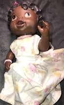 Hasbro Baby Alive All Gone African American Black Doll Talking Baby Molded Hair  - $59.39