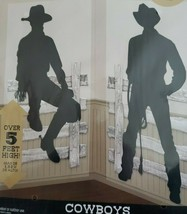Silhouette Cowboys Scene Setter Add-On Wild Western Party Wall Decorating Kit - $9.74