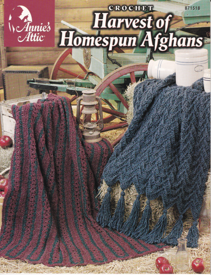 Primary image for Harvest of Homespun Afghans Crochet Christmas Ruffle African Decor Warmth Throw