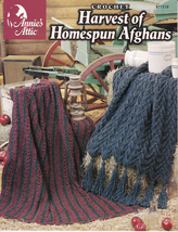 Harvest of Homespun Afghans Crochet Christmas Ruffle African Decor Warmt... - $7.91