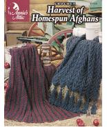 Harvest of Homespun Afghans Crochet Christmas Ruffle African Decor Warmt... - $7.91