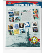 Celebrate The Century Stamps 1970's Bicentennial Watergate Earth Sheet S... - $19.00