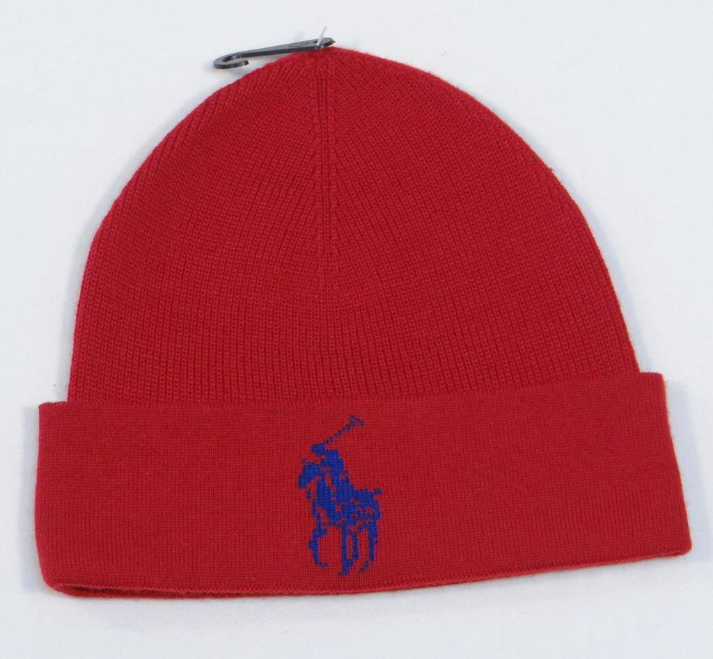 a8a82b090a3bc9 Ralph Lauren Red Merino Wool Cuff Beanie and 50 similar items