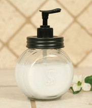 Country SELLERS SOAP LOTION DISPENSER Farmhouse Rustic Vintage Holder Gl... - $29.99