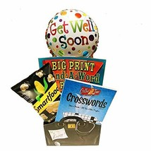 Get Well Soon Gift Box with Puzzle Books and Popcorn