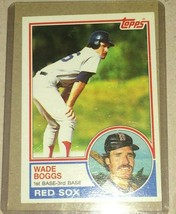 1983 TOPPS WADE BOGGS ROOKIE #498 - $9.90