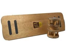 "Wooden Merdel 31"" x 10"" Balance Board Surf Skate Hockey Stability Trainer - £91.98 GBP"