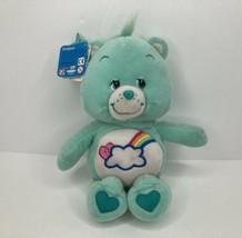 "Care Bear 2004 W/Tags Bashful Heart Bear Series 3 Aqua Rainbow Cloud 10""Tall  - $19.79"
