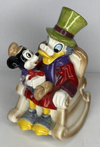 Vtg Disney Productions Scrooge Music Box Plays Song Japan Christmas Cera... - $69.29