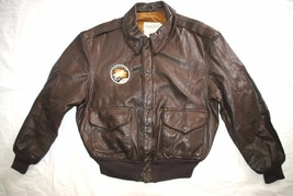 Us Air Force Flyers Men's Leather Bomber Type A-2 Jacket - Size 44S - $143.55