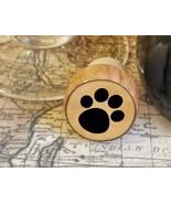 Wine Stopper, Dog Paw Print Handmade Wood Bottle Stopper, Dog Lover Gift... - $8.86