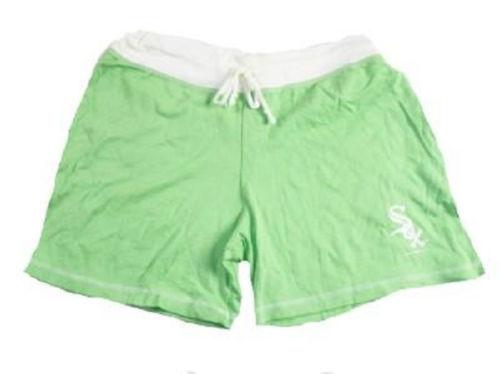 Junior Women's Chicago White Sox Shorts Green Pastel Lounge Baseball Short NEW