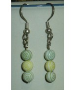 Green and Yellow Egyptian Eye Earrings - $15.00