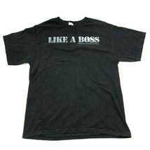 SNL Like A Boss Shirt Men's Size Large L Black Graphic Tee Saturday Nigh... - $17.83