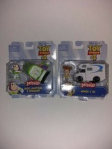 Toy Story 4 Mini's: BUZZ LIGHTYEAR & SPACESHIP + Woody Mattel Lot of 2  - $24.74