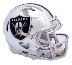 Oakland Raiders Helmet Riddell Replica Mini Speed Style Chrome Alternate**Free S - $29.99