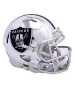 Oakland Raiders Helmet Riddell Replica Mini Speed Style Chrome Alternate... - $29.99