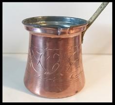 Vintage 1950's Turkish Copper Etched Coffee Pot - $48.00